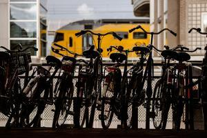 Bicycles at Centraal Station by Erin Berzel