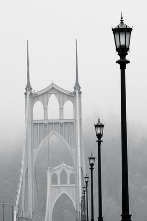 BW Light on the Bridge III by Erin Berzel