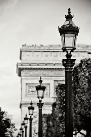 Parisian Lightposts BW I by Erin Berzel