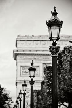 Parisian Lightposts BW I by Erin Berzel