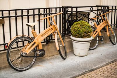 Wooden Bicycles in Amsterdam by Erin Berzel