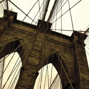Brooklyn Bridge II (sepia) (detail) by Erin Clark