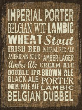 Craft Beer Sign II by Erin Clark