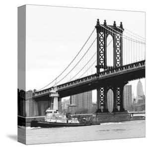 Manhattan Bridge with Tug Boat by Erin Clark