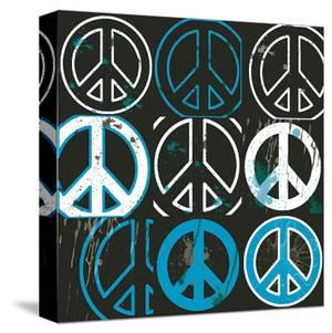 Peace Mantra (blue) by Erin Clark