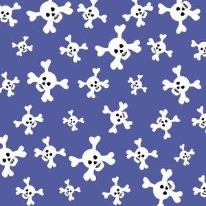 Skull Pattern Blue by Erin Clark