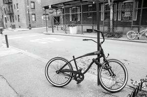 Village Bicycle (b/w) by Erin Clark