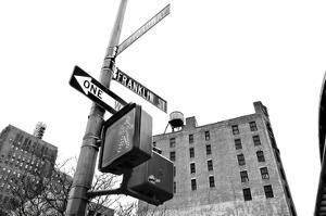 West Broadway and Franklin Street (b/w) by Erin Clark