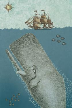 Whale And Ship 2 by Erin Clark