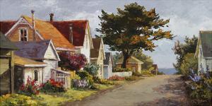 Sunlit Side Street by Erin Dertner