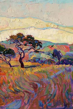 Summer in Triptych (right) by Erin Hanson