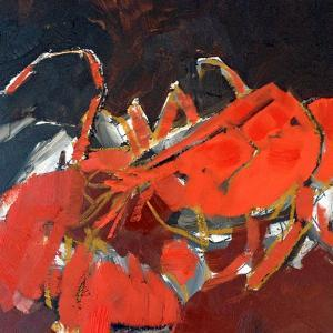 Abstract Lobster IV by Erin McGee Ferrell