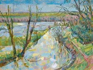 The Cherwell from Rousham I by Erin Townsend