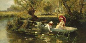 On The Thames by Ernest C^ Walbourn