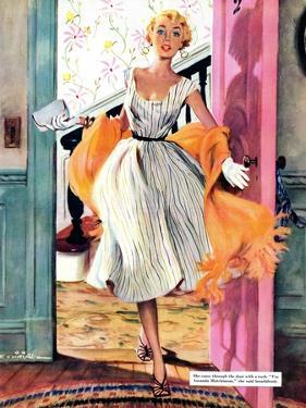 "The Lady's Future - Saturday Evening Post ""Leading Ladies"", February 6, 1954 pg.34 by Ernest Chiriaka"