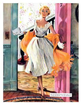 """The Lady's Future - Saturday Evening Post """"Leading Ladies"""", February 6, 1954 pg.34 by Ernest Chiriaka"""