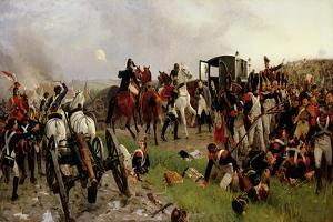 On the Evening of the Battle of Waterloo, 1879 by Ernest Crofts