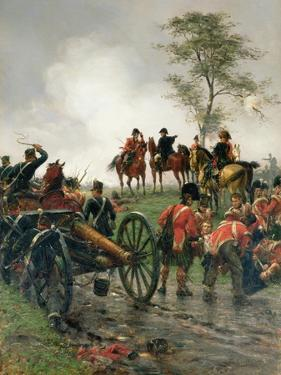 Wellington at Waterloo, 1886 by Ernest Crofts