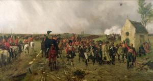 Wellington's March from Quatre Bras to Waterloo, 1878 by Ernest Crofts