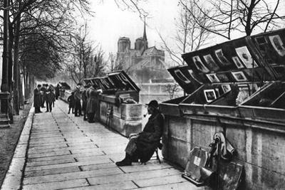 Book Stalls Along the Quays, Paris, 1931 by Ernest Flammarion