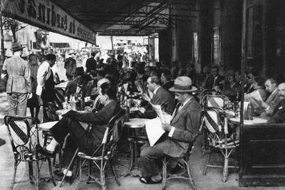 People at a Pavement Cafe, Paris, 1931