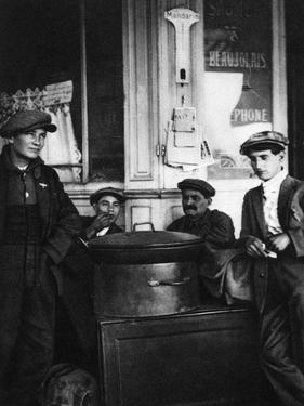 Street Sellers of Roasted Chestnuts, Paris, 1931 by Ernest Flammarion