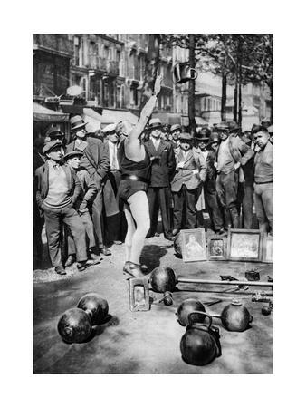 Strongman Juggling with Weights, Paris, 1931