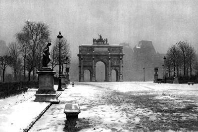 The Tuileries under Snow and the Carrousel Arch, Paris, 1931