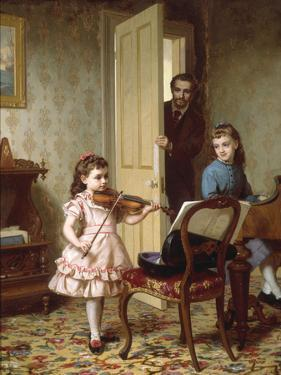 A Rehearsal on the Sly, 1875 by Ernest Gustave Girardot