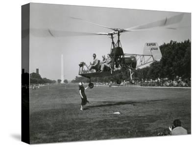 Inventor Charles Kaman Showing Off His K-225 Helicopter