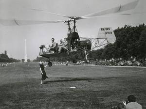 Inventor Charles Kaman Showing Off His K-225 Helicopter by Ernest J. Cottrell