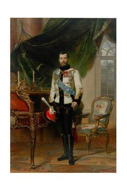 Portrait of Emperor Nicholas II (1868-191), 1896 by Ernest Karlovich Liphart