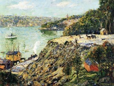 Across the River, New York, C.1910