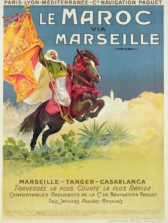Morocco and Marseille Poster, 1913 by Ernest Louis Lessieux