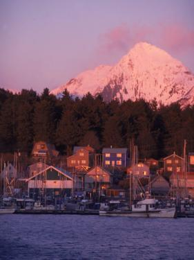 Winter Sunset on an B Harbor, Sitka Alaska by Ernest Manewal
