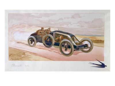 A Renault Racing Car, 1908