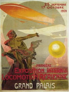 Exposition Internle De Locomotion Aerienne by Ernest Montaut