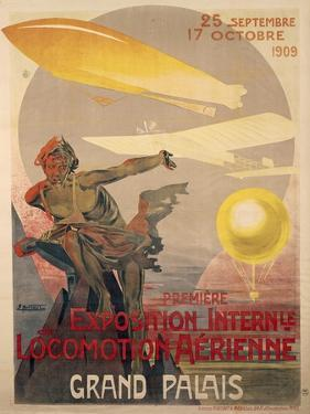 Poster for First International Exhibition of Aerial Locomotion by Ernest Montaut