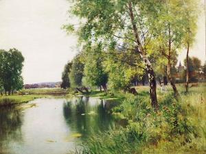 A River Landscape in Summer by Ernest Parton