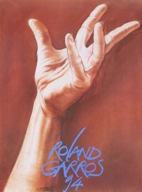 Roland Garros, 1994 by Ernest Pignon-Ernest