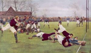 Rugby Try Scored 1897 by Ernest Prater