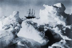 Ernest Shackleton's Ship, Endurance, in Weddell Sea Pack Ice in Antarctica, 1916