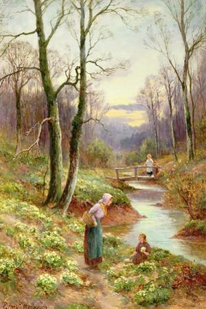 Picking Primroses by the Stream