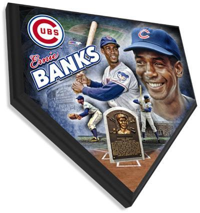 Ernie Banks Home Plate Plaque