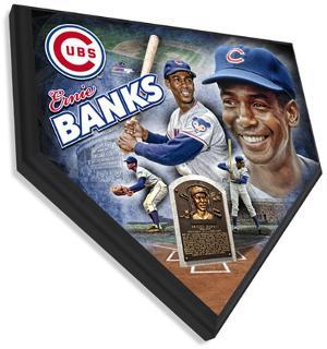 Ernie Banks Home Plate Plaque