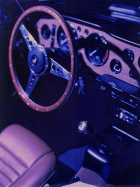 Car Dashboard, Steering Wheel, and Front Seat by Ernie Friedlander