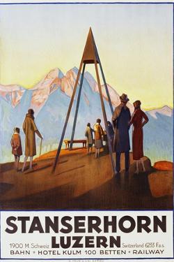 Stanserhorn Luzern Poster by Ernst Hodel