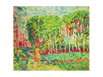 A Woman in a Birch Wood