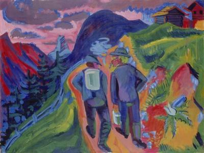 Alpine Path after a Thunderstorm, 1923-1924