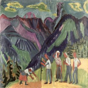 Bergheuer by Ernst Ludwig Kirchner